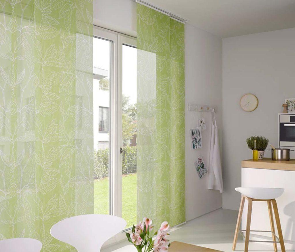 Tende a pannello scorrevoli verdi - sintesi tende orbassano
