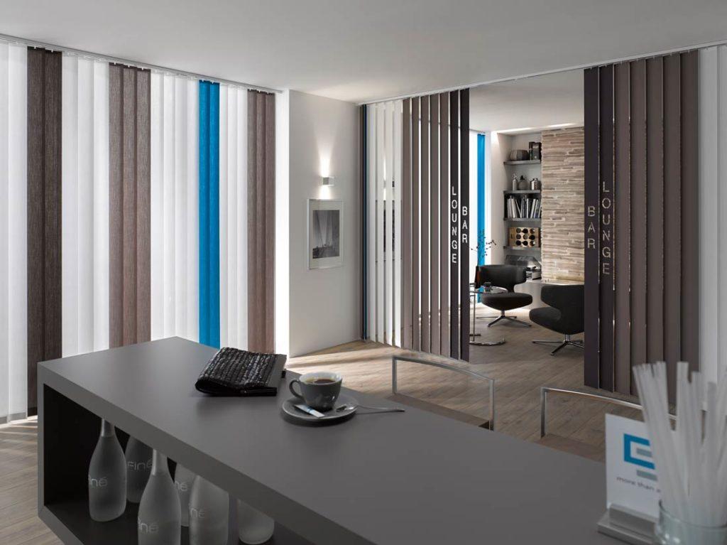 Tende verticali blu grigio - Sintesi Tende Orbassano Torino